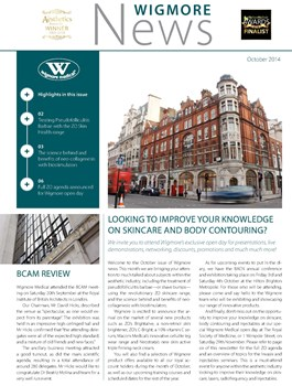 Combatting Cellulite in style - Wigmore News - October 2014