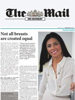 Not all breasts are created equal by Dr Rozina Ali - The Mail on Sunday - June 2015
